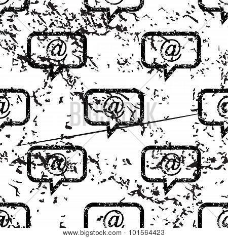 E-mail message pattern, grunge, monochrome