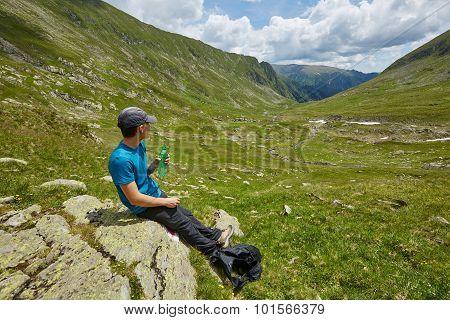 Teenage Hiker Resting