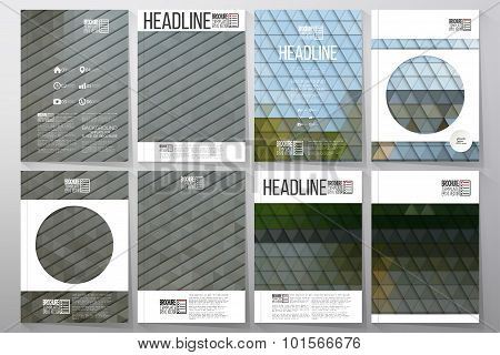 Business templates for brochure, flyer or booklet. Park landscape. Collection of abstract multicolor