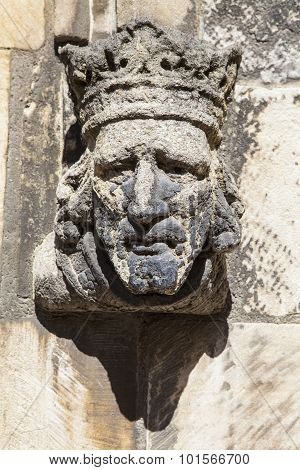 Sculpture Detail On St. Martin-le-grand In York