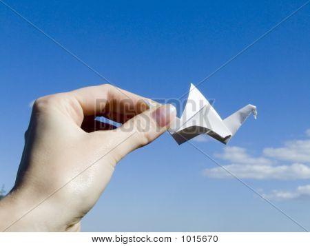 Crane In A Hand