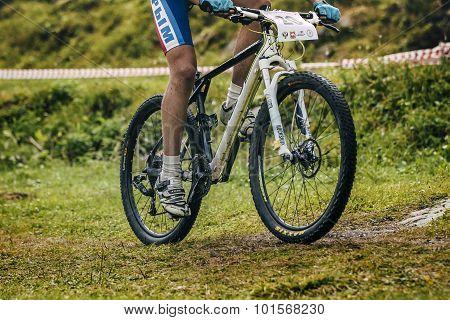 young men mountain bike