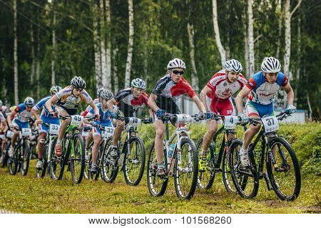 group of boys mountain bike