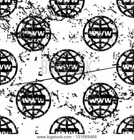 Global network pattern, grunge, monochrome