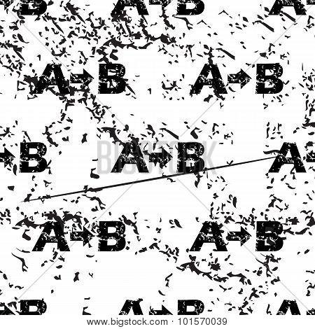 A-B logic pattern, grunge, monochrome
