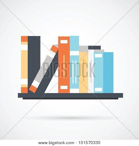 Bookshelf with books - simple icon