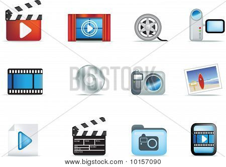 Set Of Movie And Photo Icons