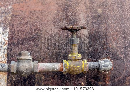 Rusty  Metal Surface And Pipe.