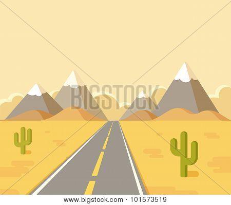 Desert Highway Landscape