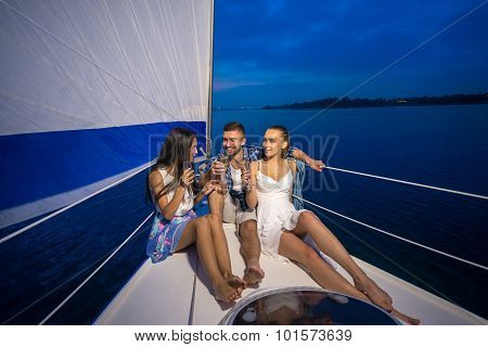 Youth party on a yacht.