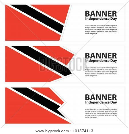Trinidad & Tobago Flag Banners Collection Independence Day