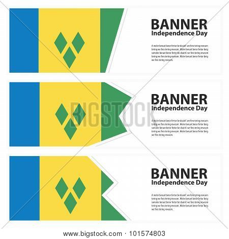 St Vincent & The Grenadines Flag Banners Collection Independence Day