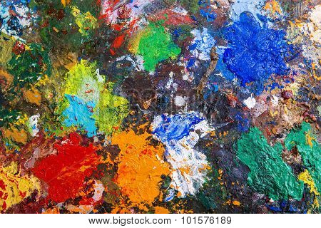 Palette with paints