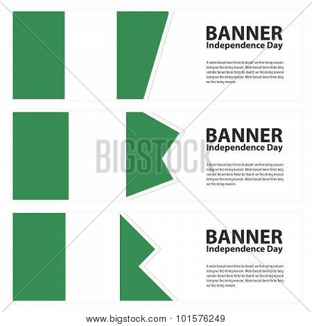 Nigeria Flag Banners Collection Independence Day