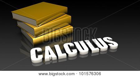 Calculus Subject with a Pile of Education Books