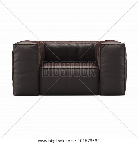Armchair brown leather