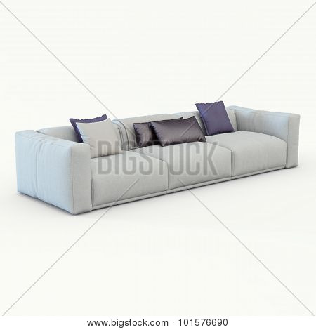 Sofa cloth with pillows