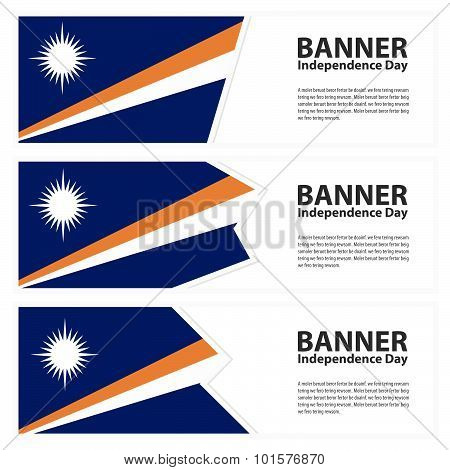 Marshall Islands Flag Banners Collection Independence Day