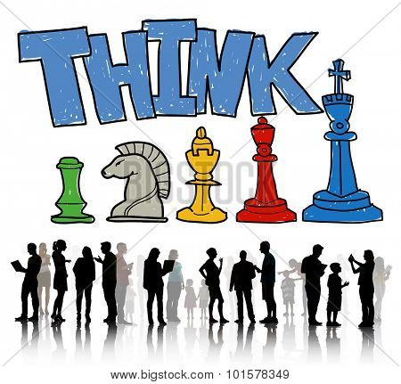 Think Creative Innovation Chess Game Concept