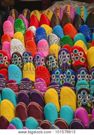 The Colorful Traditional Shoes Of Morocco Made From Leather