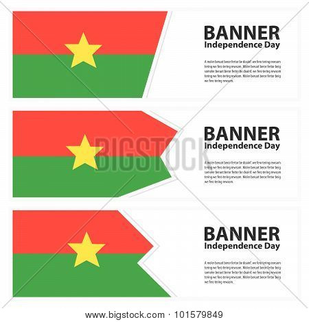 Burkina Faso  Flag Banners Collection Independence Dayc