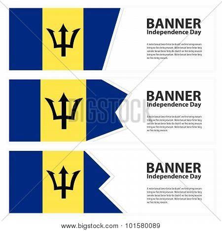 Barbados  Flag Banners Collection Independence Day