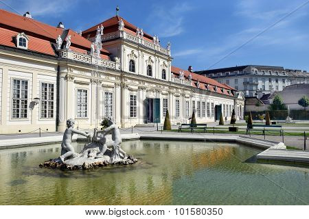Fountain In Front Lower Belvedere, Vienna, Austria
