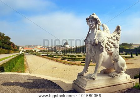 Gardens Of Belvedere In Vienna, Austria