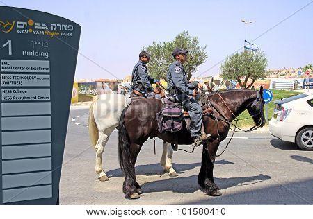 Horse Escort Prime Minister Benjamin Netanyahu