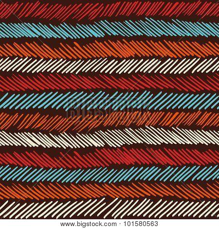 Boho Seamless Pattern Striped Vintage Background