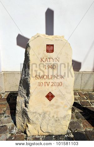 Memorial Katyn Massacre In Vienna, Austria