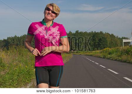 Smiling woman.