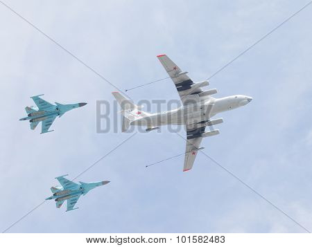 Two Su-34 And Il-78