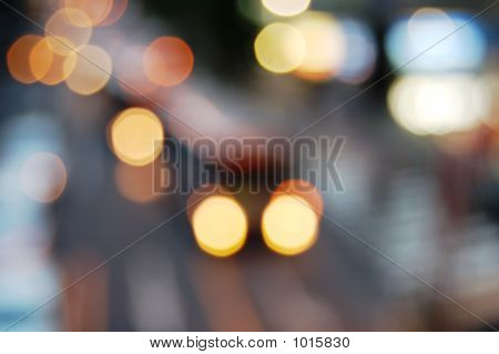 Blur Vehicle'S Lights