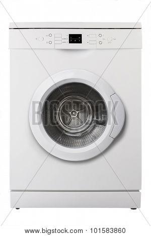White dishwasher isolated on white background
