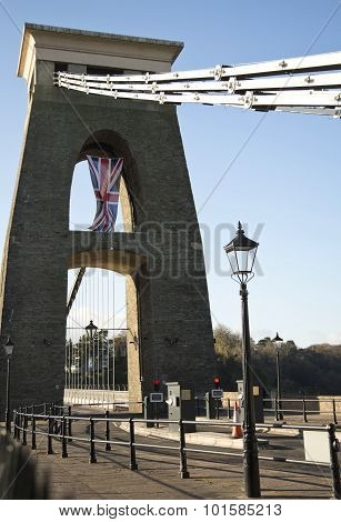 Clifton Suspension Bridge Over The River Avon