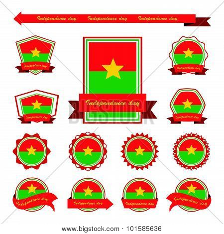 Burkina Faso Independence Day Flags Infographic Design
