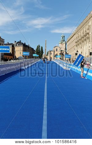 The Blue Transition Zone, City Of Stockholm In Background