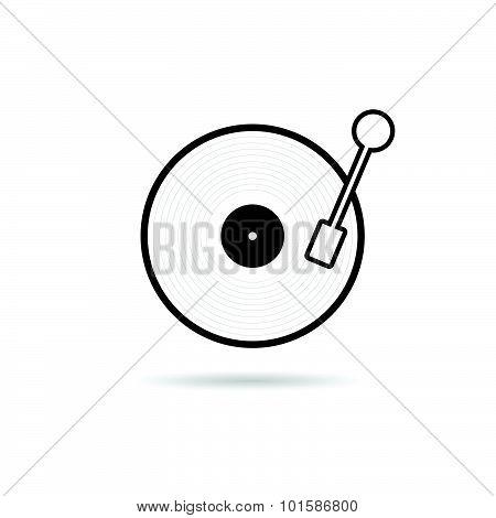 Vinyl Black Vector Illustration