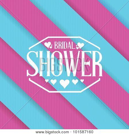 Bridal Shower Sign Lines Background