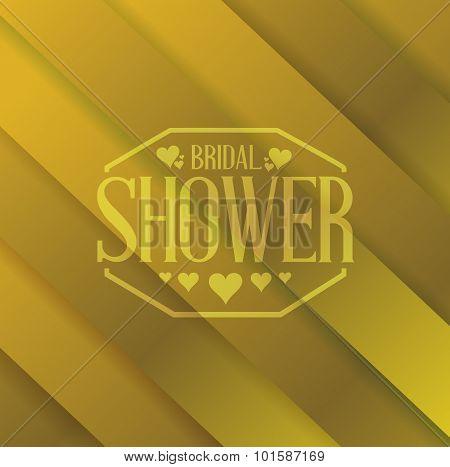 Bridal Shower Sign Over A Gold Background