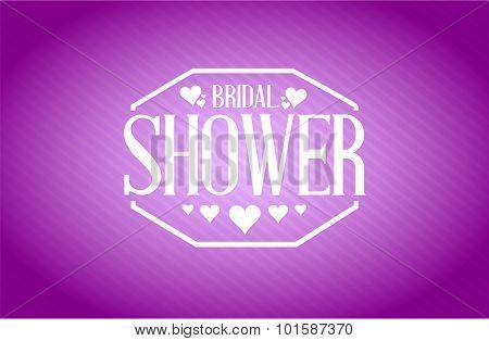 Bridal Shower Sign Purple Background Illustration