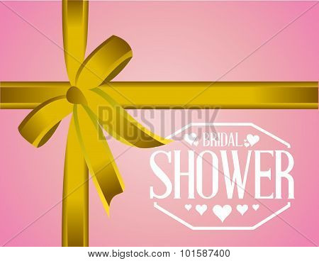 Bridal Shower Sign Ribbon Background