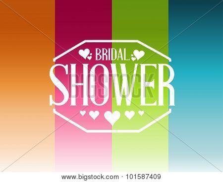 Bridal Shower Lines Sign Background