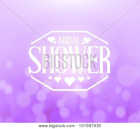 Bridal Shower Sign Bokeh Background