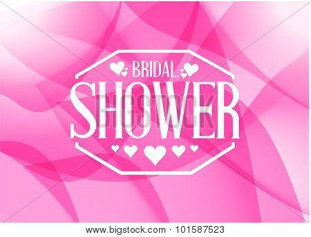 Bridal Shower Sign Illustration Design Pink