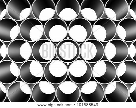 Background Of Metal Pipes