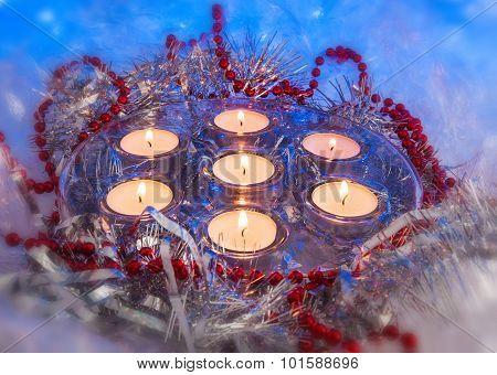Christmas, Festive Candles