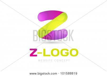Abstract Z character vector logo icon template. Power z vector, z letter logo, web studio, design studio, round shape,z logo icon, company z logo, abstract logo, design element. Z monogram