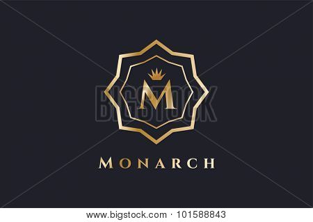 Royal logo vector template. Hotel logo. Kings symbol. Royal crests monogram. Kings Top hotel. Letter M logo. Royal hotel, Premium M brand boutique, Fashion M logo, Lawyer logo. Crown. vintage modern